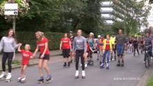 Rollerparade doorheen Berchem Berchem TV